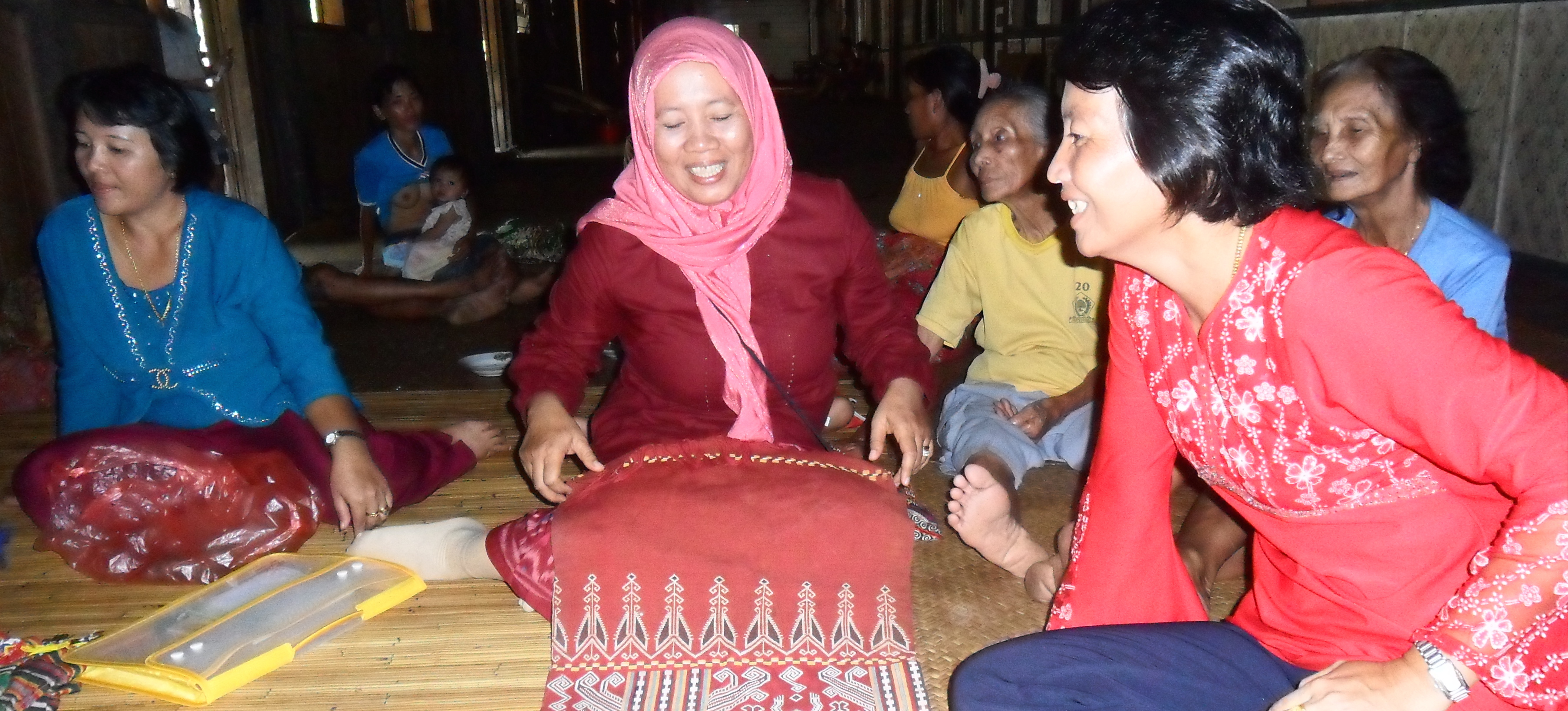 """""""Talking about Dayak Ikat weaving is not just talking about preserving the culture of the Dayak community only, but we are talking how to develop the local economy which was initiated and developed in accordance with local knowledge, intellectual property and the Dayak community as well talk about Kalimantan forest wealth with natural dyes."""" – Fifiyati Hoesni, PRCF Indonesia"""