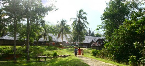 Longhouse of Ensaid Panjang Village, West Kalimantan, Indonesia. Photo Stephanie Jung