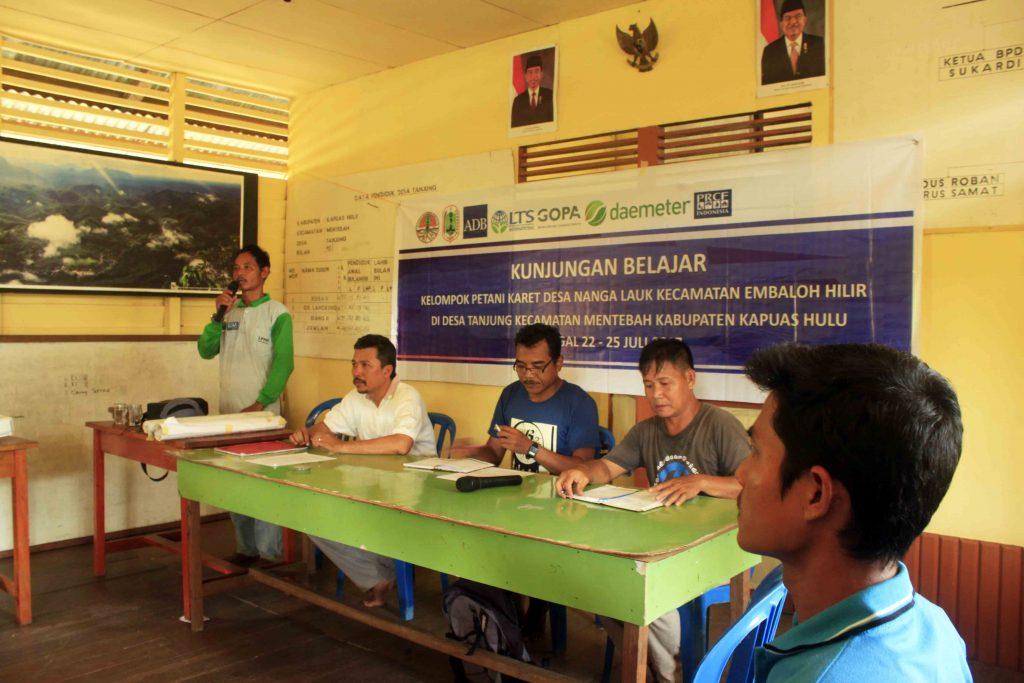 Desa Tanjung, Desa Nanga Lauk, Pelatihan karet