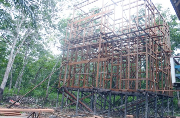 Pembangunan Kantor LPHD Lauk Bersatu Terus Berlangsung