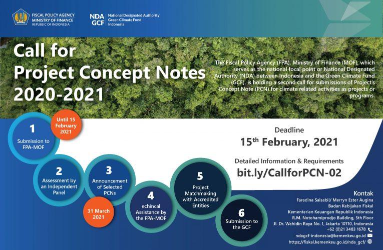BKF Call for PCN untuk Program Perubahan Iklim Potensial