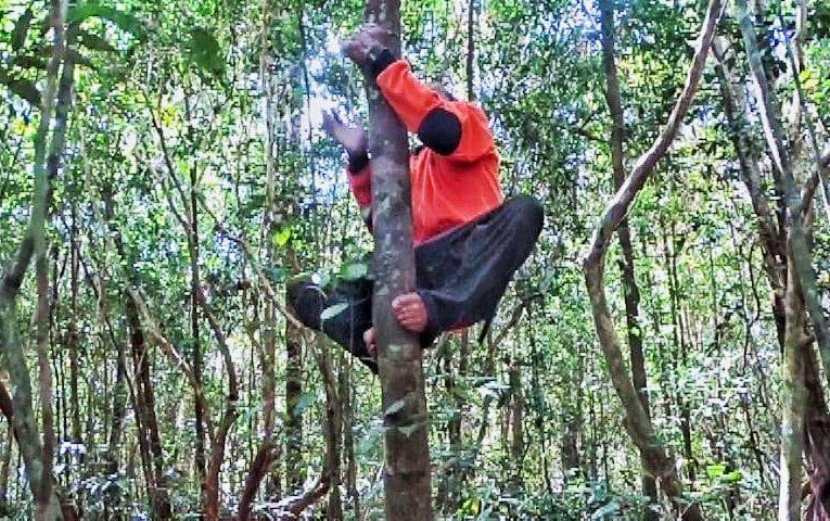 Pemasangan Plang Batas Hutan Desa