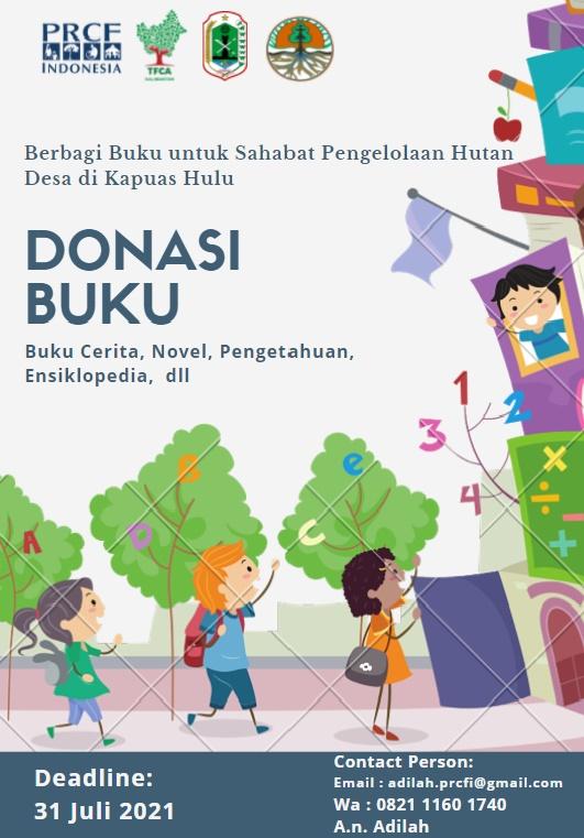 Liflet donasi buku