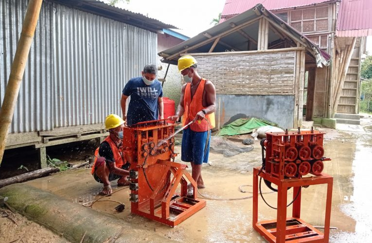 Mesin Pengolahan Bambu Kembali Beroperasi di Desa Sri Wangi
